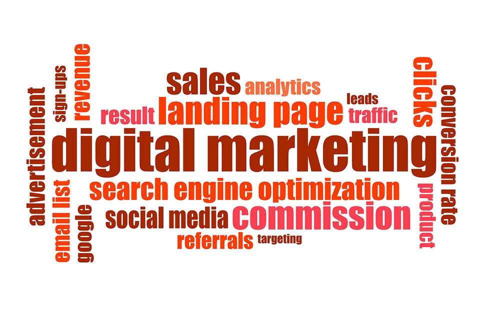 Words associated with digital marketing
