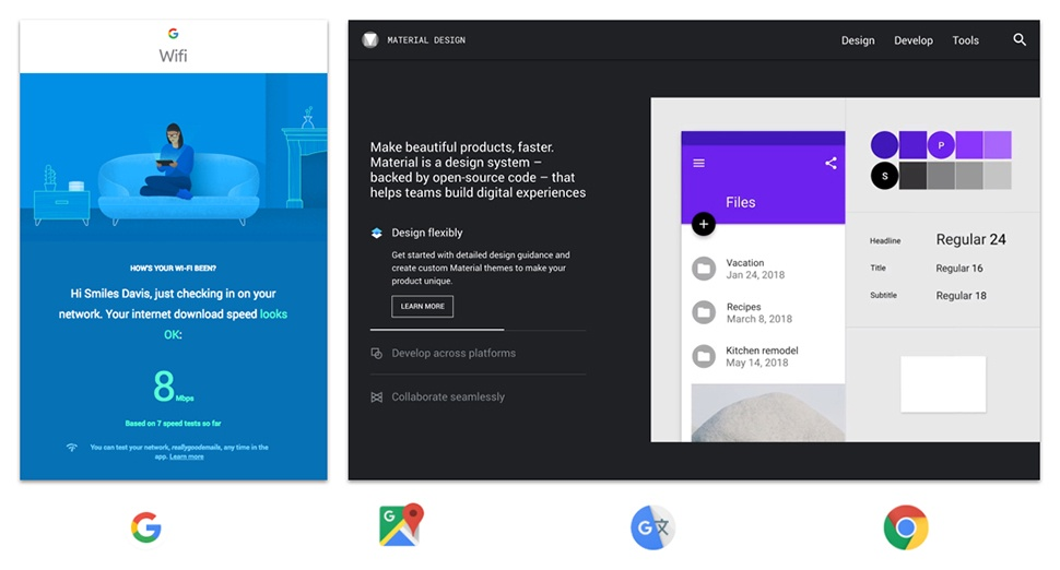 Google Wifi Email, Google Material Design Website, Google App Icons.
