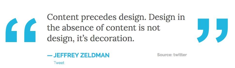 QuoteJeffreyZeldman-WebContentStrategy-Blog