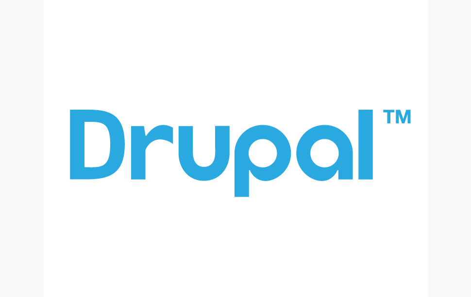 Drupal logo in blue