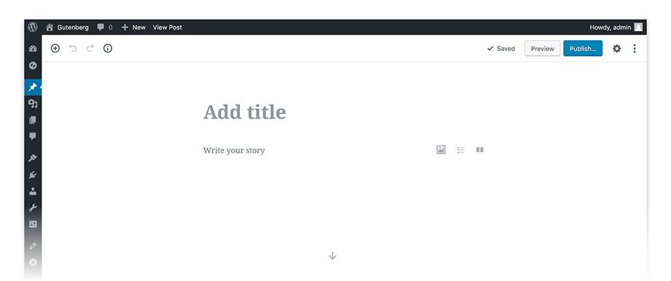 WordPress Gutenberg editor online.