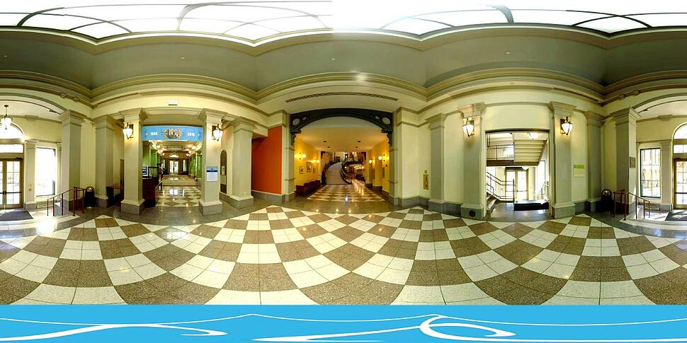 360 degree image of inside JHU Peabody