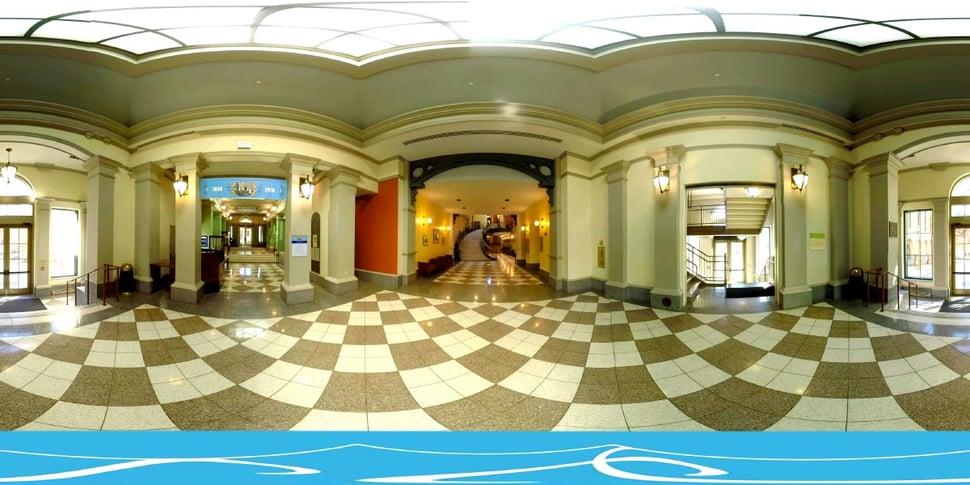 360 degree image of inside JHU Peabody