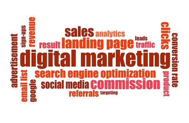 Words associated with digital marketing
